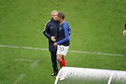 Kylian MBAPPE (FRA) and Didier Deschamps (FRA) during the FIFA Friendly Game football match between France and Republic of Ireland on May 28, 2018 at Stade de France in Saint-Denis near Paris, France - Photo Stephane Allaman / ProSportsImages / DPPI