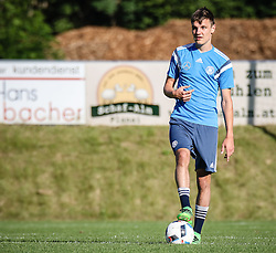 01.07.2016, Athletic Area, Schladming, AUT, U19 EURO, Vorbereitung Deutschland, DFB U19 Junioren, im Bild Gino Fechner (RB Leipzig, Deutschland U19) // during a training camp of Team Germany for preparation for the UEFA European Under-19 Championship at the Athletic Area, Austria on 2016/07/01. EXPA Pictures © 2016, PhotoCredit: EXPA/ Martin Huber