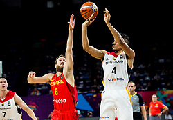 Sergio Rodriguez of Spain vs Maodo Lo of Germany during basketball match between National Teams of Germany and Spain at Day 13 in Round of 16 of the FIBA EuroBasket 2017 at Sinan Erdem Dome in Istanbul, Turkey on September 12, 2017. Photo by Vid Ponikvar / Sportida