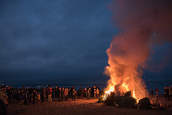 In a community tradition that stretches back at least fifteen years discarded Christmas Trees in Portobello have been moving to the beach. The trees were burned early this evening in a massive bonfire on the beach.<br /> <br /> © Jon Davey/ EEm