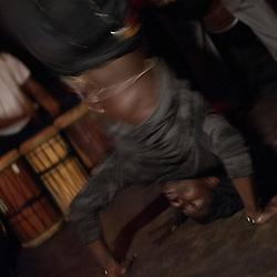 "Washington, DC  - Basher dances to Farafina Kan at Tropicalia for Asheru's ""Sleepless in Soweto"" album release party."