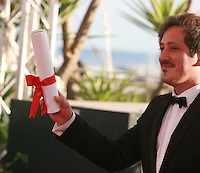 Simón Mesa Soto winner of the Palme d'Or short film for Leidi at the Palme d'Or winners photo call at the 67th Cannes Film Festival, Saturday 24th May 2014, Cannes, France.