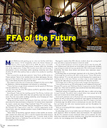 I wrote a story about the future of the FFA in Oklahoma and shot photos for the story.  This is the only photo that ran out of a few dozen I took for the story.