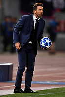 Eusebio Di Francesco of AS Roma holds the ball during the Uefa Champions League 2018/2019 Group G football match between AS Roma and CSKA Moscow at Olimpico stadium Allianz Stadium, Rome, October, 23, 2018 <br />  Foto Andrea Staccioli / Insidefoto