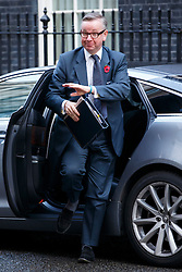 © Licensed to London News Pictures. 04/11/2014. LONDON, UK. Michael Gove attending to a cabinet meeting in Downing Street on Tuesday 4 November 2014. Photo credit: Tolga Akmen/LNP