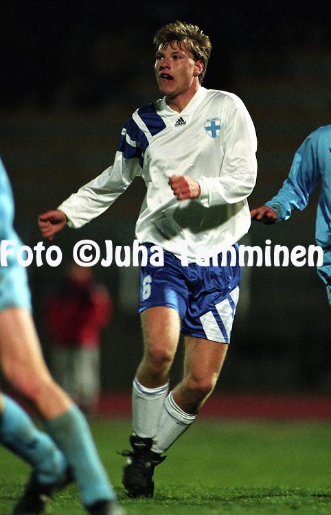 28.03.1995, Serravalle, San Marino..UEFA Under-21 European Championship / Olympic Qualifying Match, San Marino v Finland. .Tomas Nyg?rd - Finland.©Juha Tamminen