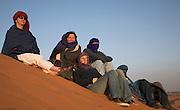People watching sun rise Merzouga, Morocco