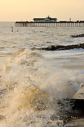© Licensed to London News Pictures. 30/11/2013. Southwold, UK Southwold pier. Crashing waves on the seafront in Southwold, Suffolk today, 30 November 2013. Photo credit : Stephen Simpson/LNP