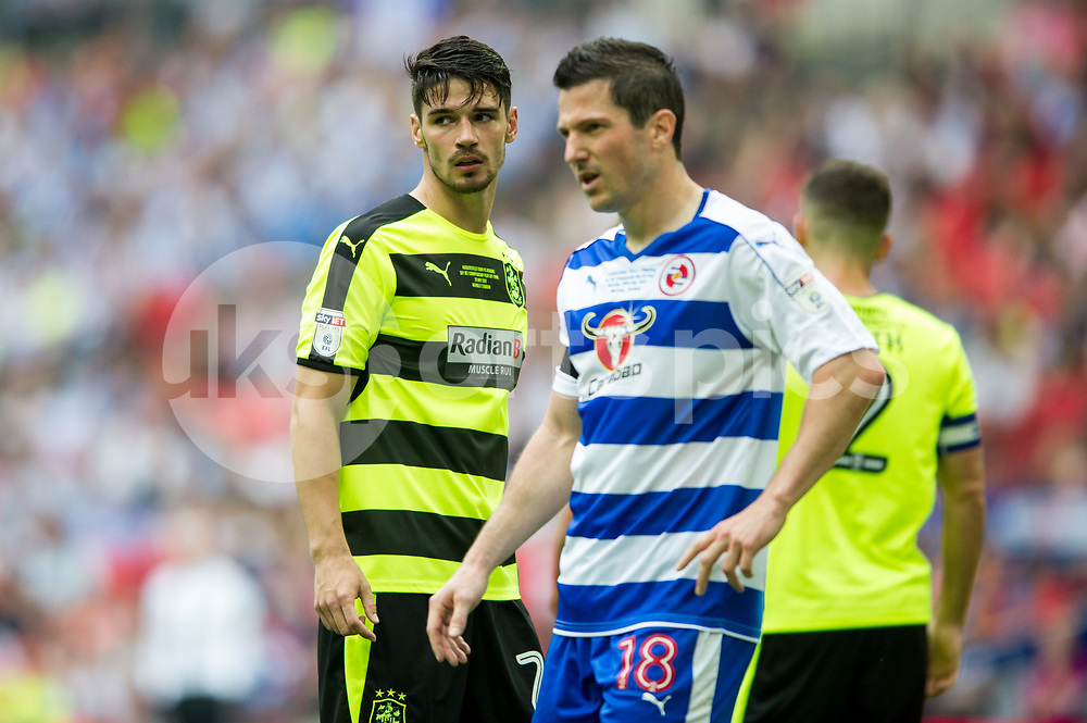 Christopher Schindler of Huddersfield Town during the EFL Sky Bet Championship Play-Off Final match between Huddersfield Town and Reading at Wembley Stadium, London, England on 29 May 2017. Photo by Salvio Calabrese.