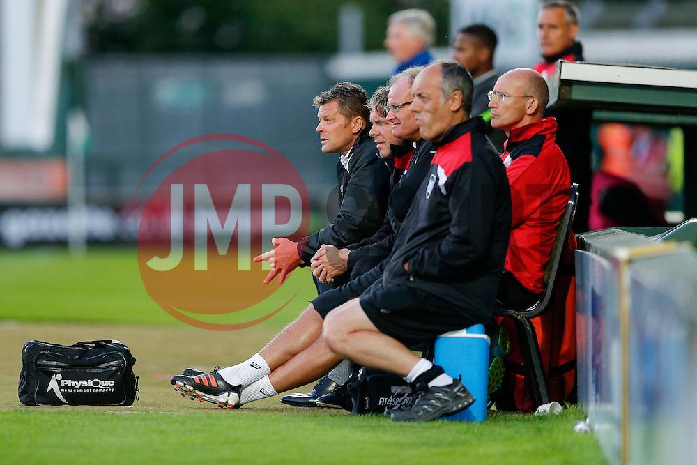 Bristol City Manager Steve Cotterill looks on - Mandatory byline: Rogan Thomson/JMP - 07966 386802 - 30/07/2015 - FOOTBALL - Huish Park Stadium - Yeovil, England - Yeovil Town v Bristol City - Pre Season Friendly.