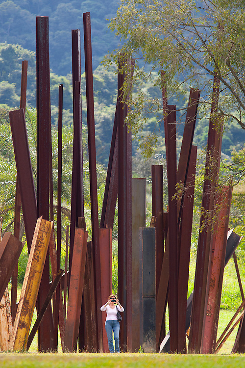 Brumadinho_MG, Brasil.<br /> <br /> Centro de Arte Contemporanea Inhotim (CACI). Na foto a obra Bean Drop, de Cris Burden.<br /> <br /> The Inhotim Contemporary Art Center (CACI). In this photo the art Bean Drop of Cris Burden.<br /> <br /> Foto: RODRIGO LIMA / NITRO