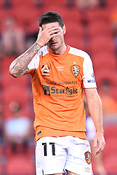 January 18, 2018 - Brisbane, QUEENSLAND, AUSTRALIA - Corey Gameiro of the Roar (#11) reacts during the round seventeen Hyundai A-League match between the Brisbane Roar and the Perth Glory at Suncorp Stadium on January 18, 2018 in Brisbane, Australia. (Credit Image: © Albert Perez via ZUMA Wire)