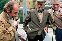October 1992, Dogliani, Italy --- Chef Cesare Gioccone Smelling Truffle --- Image by © Owen Franken/CORBIS