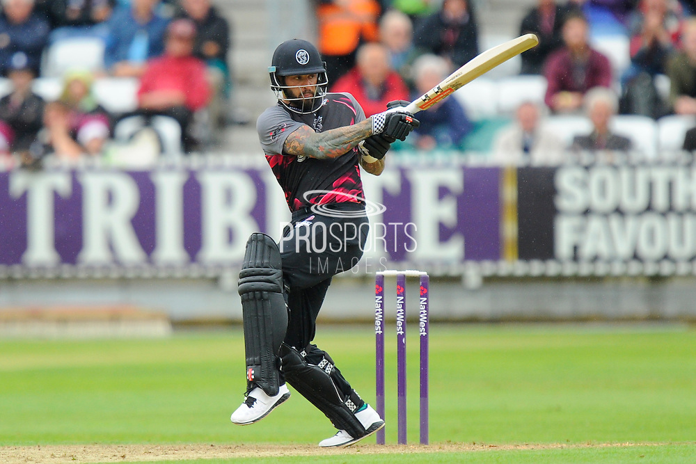 Somerset's Peter Trego during the NatWest T20 Blast South Group match between Somerset County Cricket Club and Hampshire County Cricket Club at the Cooper Associates County Ground, Taunton, United Kingdom on 19 June 2016. Photo by Graham Hunt.