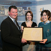 Pictured at the Presentation of Young Citizen Awards in Glor were from left: Cllr Pat Hayes, Cathoirleach of Clare County Development Board, Brid Kirby,Clare County Development Board and Antonia Virouska, Environment Club, St. Caimins.<br /> Pic.Brian Gavin/Press 22