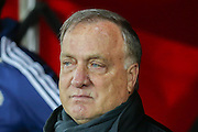 Sunderland Manager Dick Advocaat during the Capital One Cup match between Sunderland and Manchester City at the Stadium Of Light, Sunderland, England on 22 September 2015. Photo by Simon Davies.