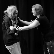 Members of Cocheco Arts and Technology Academy  in an Improv master class with comedians from The Second City at The Music Hall Loft in Portsmouth, NH