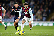 Burnley midfielder Jeff Hendrick (13) runs at goal during the Premier League match between Burnley and West Ham United at Turf Moor, Burnley, England on 9 November 2019.