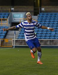 Reading's Daniel Williams celebrates scoring his sides third goal  - Photo mandatory by-line: Robin White/JMP - Tel: Mobile: 07966 386802 01/02/2014 - SPORT - FOOTBALL - The Den - Millwall - Millwall v Reading - Sky Bet Championship