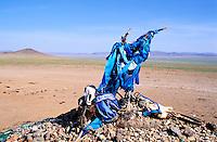 Mongolie, Province d'Arkhangai, Övöö : chorten bouddhiste // Mongolia, ARkhangai province, Ovo, buddhist monument