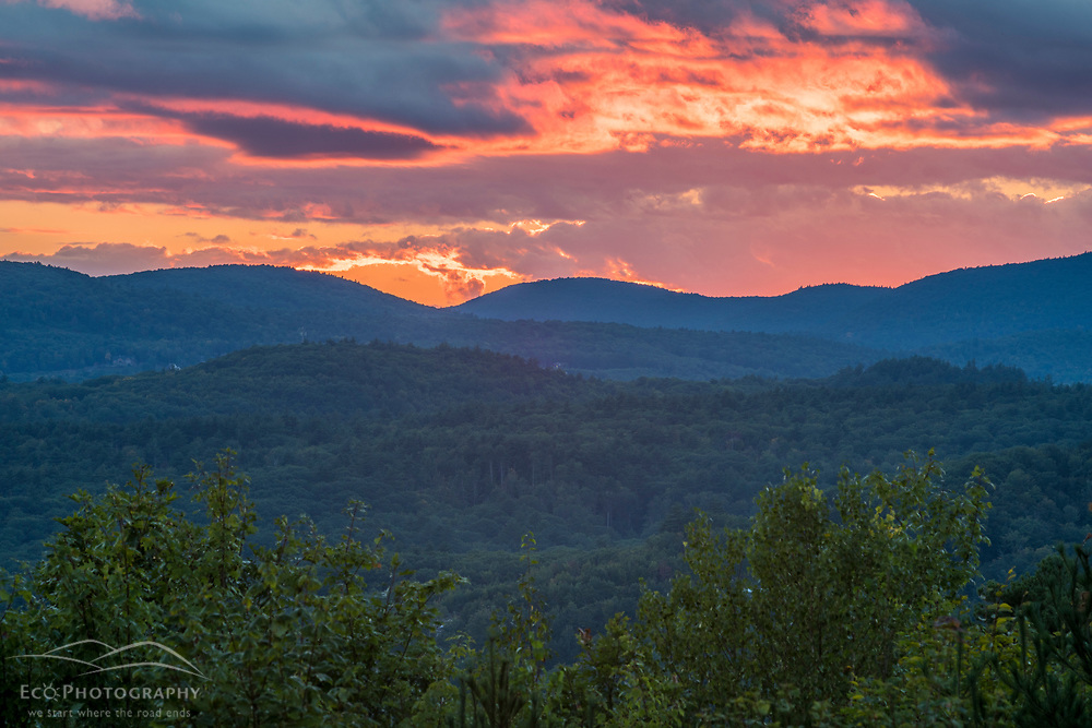 The view from Birch Ridge in New Durham, New Hampshire.