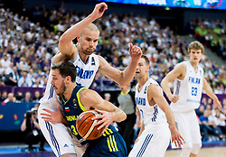 Tuukka Kotti of Finland vs Goran Dragic of Slovenia during basketball match between National Teams of Finland and Slovenia at Day 3 of the FIBA EuroBasket 2017 at Hartwall Arena in Helsinki, Finland on September 2, 2017. Photo by Vid Ponikvar / Sportida