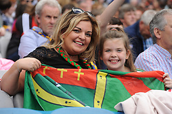 Mayo supporters Karen Duffy and her daughter<br /> at Croke park for the All Ireland quarter final replay.<br /> Pic Conor McKeown