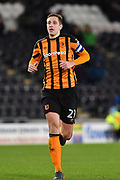 Hull City defender Michael Dawson (21) during the EFL Sky Bet Championship match between Hull City and Barnsley at the KCOM Stadium, Kingston upon Hull, England on 27 February 2018. Picture by Ian Lyall.