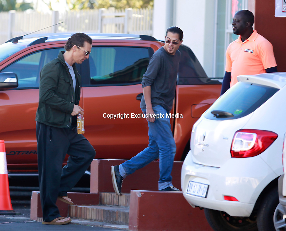 """EXCLUSIVE <br /> Matthew McConaughey spent the day at the Datk Tower studios in Cape Town for wardrobe fittings and to run through his shooting schedule for his latest role as the Man in Black in """"Dark Tower"""".  He will be filming alongside Idris Elba and Canadian actress Kathryn Winnick.<br /> McConaughey and his wife Camila Alves jetted in to Cape Town with their 3 children, Levi, Livingstone and Vida on Sunday evening and have been spotted dining at some of the cities trendiest restaurants. The family dined at popular Beluga restaurant on Tuesday evening where tight security had to keep fellow diners away from trying to take photos of the actor.<br /> ©Starpics/Exclusivepix Media"""