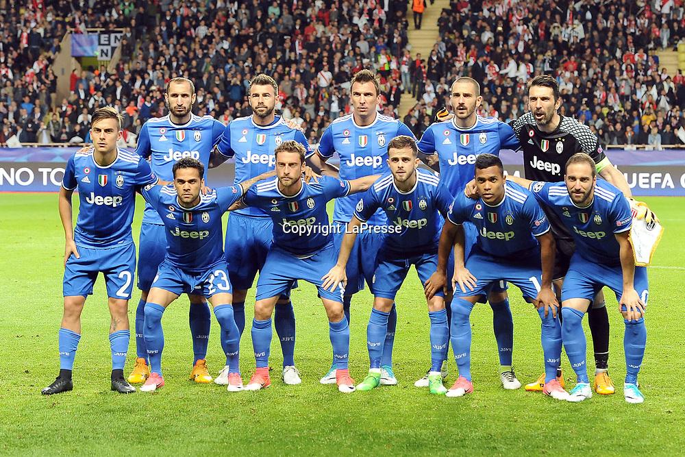 Photo LaPresse - Valerio Andreani<br /> 03 May 2017 City Monaco<br /> Sport Soccer<br /> Monaco-Juventus<br /> Semi-finals Champions League 2016/2017 - &quot;Louis II&quot; Stadium<br /> in the pic:  formazione juve