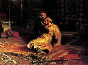 In 1581, Ivan beat his son, Ivan in a heated argument causing his son's death. Depicted in the painting by Ilya Repin, 'Ivan the Terrible killing his son' by Ilya Repin. Ivan IV 'the Terrible' (1530 – 1584) Tsar of Russia 1533 - 1584.