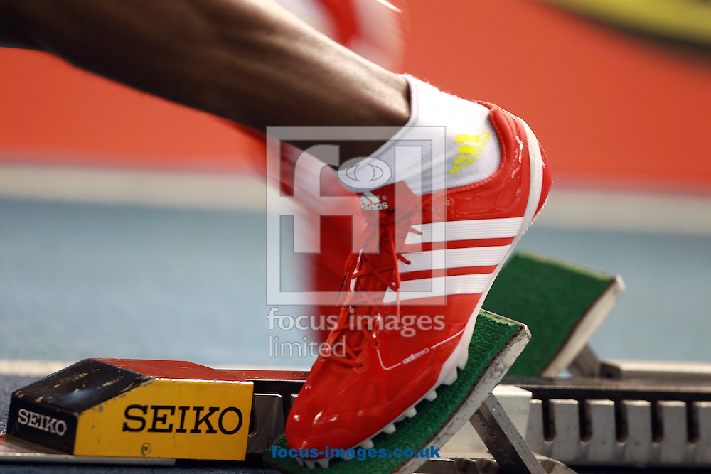 Picture by Paul Terry/Focus Images Ltd +44 7545 642257.10/02/2013.a general view from the start of the mens 200 metres race during the UK Championships at English Institute of Sport, Sheffield.