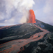 Lava fountain, Pu'u O'o Vent, Kilauea Volcano, HVNP, Island of Hawaii