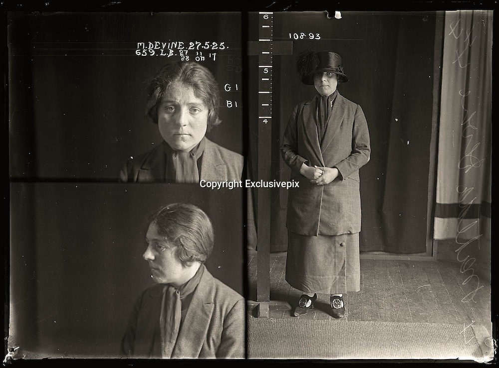 The barber shop slasher, the back-street abortionist and the 'parasite in a skirt': Vintage Australian mugshots reveal some of the country's earliest women criminals<br /> <br /> Haunting images of the past have emerged, showing vintage black and white portraits of Australian women.<br /> But these are no ordinary women. These are the not-so-innocent faces of convicted criminals who were put behind bars from the 1880s to 1930s.<br /> Among them include the infamous razor gangster and prominent madam of the times - Matilda 'Tilly' Devine.<br /> Others include backyard abortionists, drug dealers and those convicted of bigamy, drunkenness and theft.<br /> most of them were sent to the State Reformatory for Women, Long Bay - south of Sydney - which is now known as&nbsp;Long Bay Correctional Complex.<br /> <br /> <br /> Photo shows:  Matilda Devine, criminal record number 659LB, 27 May 1925. State Reformatory for Women, Long Bay, NSW.<br /> <br /> Matilda 'Tilly' Devine used a razor to slash a man's face in a barber's shop and was sentenced to two years gaol. She was Sydney's best-known brothel madam and her public quarrels with sly-grog queen Kate Leigh provided the media with an abundance of material. Aged 25<br /> &copy;NSW Police Gazette/Exclusivepix