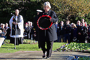 Ceremony of Remembrance at Seaford, East Sussex on 11 November 2012 Wreath Layer