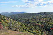 A pleasant view of the Keweenaw Mountain Lodge area from Brockway Mountain.
