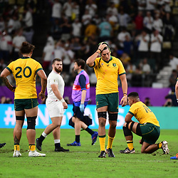 Disappointment for Australia after they lose  the Rugby World Cup 2019 Quarter Final match between England and Australia on October 19, 2019 in Oita, Japan. (Photo by Dave Winter/Icon Sport) - --- - Oita Stadium - Oita (Japon)