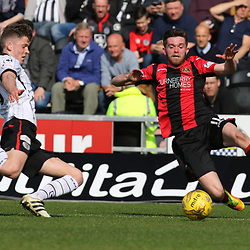 Rory Loy and Samuel Stanton fly in  during the St Mirren v Dumbarton Scottish Championship 08 April 2017<br /> <br /> <br /> <br /> <br /> <br /> (c) Andy Scott | SportPix.org.uk