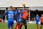 Peterborough United defender Andrew Hughes (3) clears his lines during the EFL Sky Bet League 1 match between Peterborough United and Southend United at London Road, Peterborough, England on 3 February 2018. Picture by Nigel Cole.