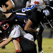 Trask's Ruben Chavez pushes for more yardage against Union. (Jason A. Frizzelle)