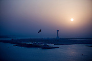 sunset over man made islands  abu dhabi Marina amd Marina Mall