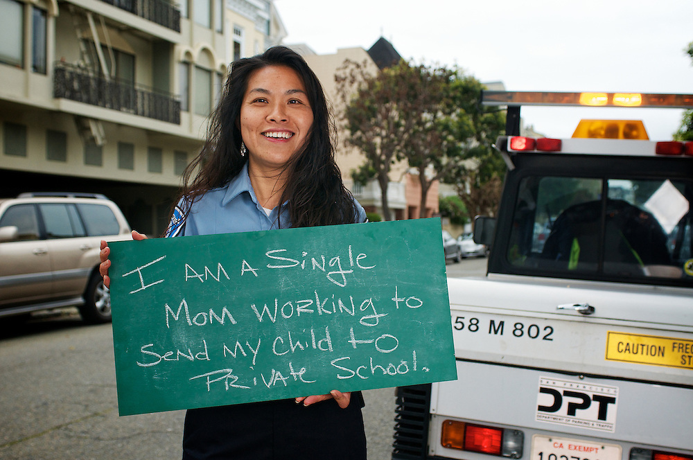 Claudia Wu, Parking Control Officer (PCO) | I am a single mom working to send my child to private school | I am Muni.
