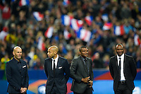 Zinedine Zidane / Thierry Henry / Marcel Desailly / Patrick Vieira  - 26.03.2015 - France / Bresil - Match Amical<br />