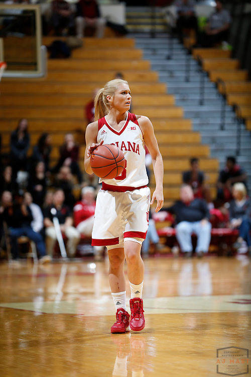 Indiana guard Tyra Buss (3) in action as Indiana played Northern Kentucky in an NCCA college basketball game in Bloomington, Ind., Thursday, Dec. 8, 2016. (AJ Mast)