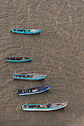 Fishing boats<br /> Mahaica River entrance<br /> GUYANA<br /> South America