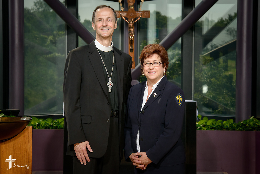 Portrait of the Rev. Cullen Duke and Deaconess Jacqueline Duke, career missionaries to Peru, at the International Center of The Lutheran Church–Missouri Synod on Monday, June 13, 2016, in Kirkwood, Mo. LCMS Communications/Erik M. Lunsford