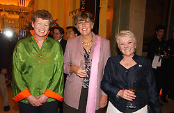 Left to right, VIVIENNE COX winner of the 2006 Veuve Clicquot Award and former winners PRU LEITH and DIANE THOMPSON at a reception for the winners of the 2006 Veuve Clicquot Award - Business Woman of the Year held at Claridge's Hotel, brook Street, London on 27th April 2006.  This years winner was Vivienne Cox, BP CEO for Gas, Power, Renewables and Integrated Supply & Trading.  The awards were presented by the Rt.Hon.Gordon Brown MP - The Chancellor of the Exchequer.<br /><br /><br />NON EXCLUSIVE - WORLD RIGHTS