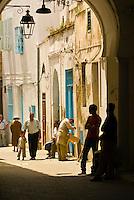 People in the street, Tunis, Tunisia