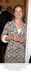 COUNTESS ALEXANDRA TOLSTOY-MILOSLAVSKY daughter of Count Nikolai Tolstoy-Moloslavsky, at a party in London on 27th March 2003.PIN 28