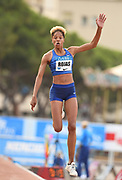 Yulimar Rojas (VEN) wins the women's triple jump at 49-1 3/4  (14.98m) in the  Herculis Monaco in an IAAF Diamond League meet , Thursday, July 11, 2019, in Port Hercules, Monaco.(Jiro Mochizuki/Image of Sport)